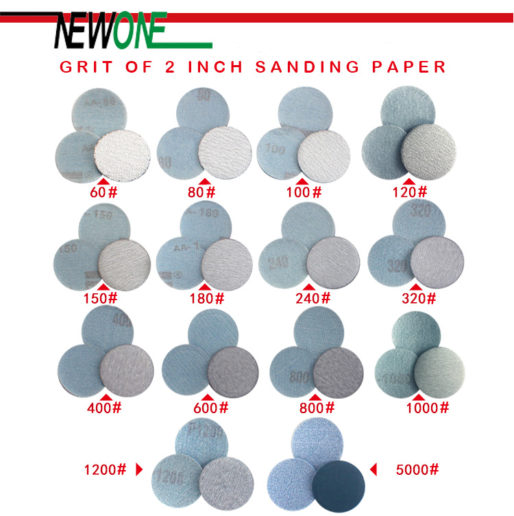 30 Pcs/lot 50MM 2 Inches Dry Grinding Abrasives Paper Flocking Sandpaper Pad Sanding Disc Woodworking Electric Grinder