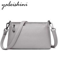 New Women Gray tote Crossbody Bags Women Bags for shoulder luxury handbags Messenger Bags Bolsa Feminina Shoulder leather Female стоимость