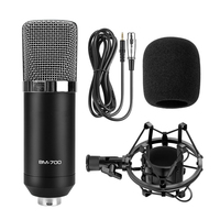 Ituf BM 700 Professional Condenser Microphone High Quality 3 5mm Wired Sound Recording Microphone For Computer