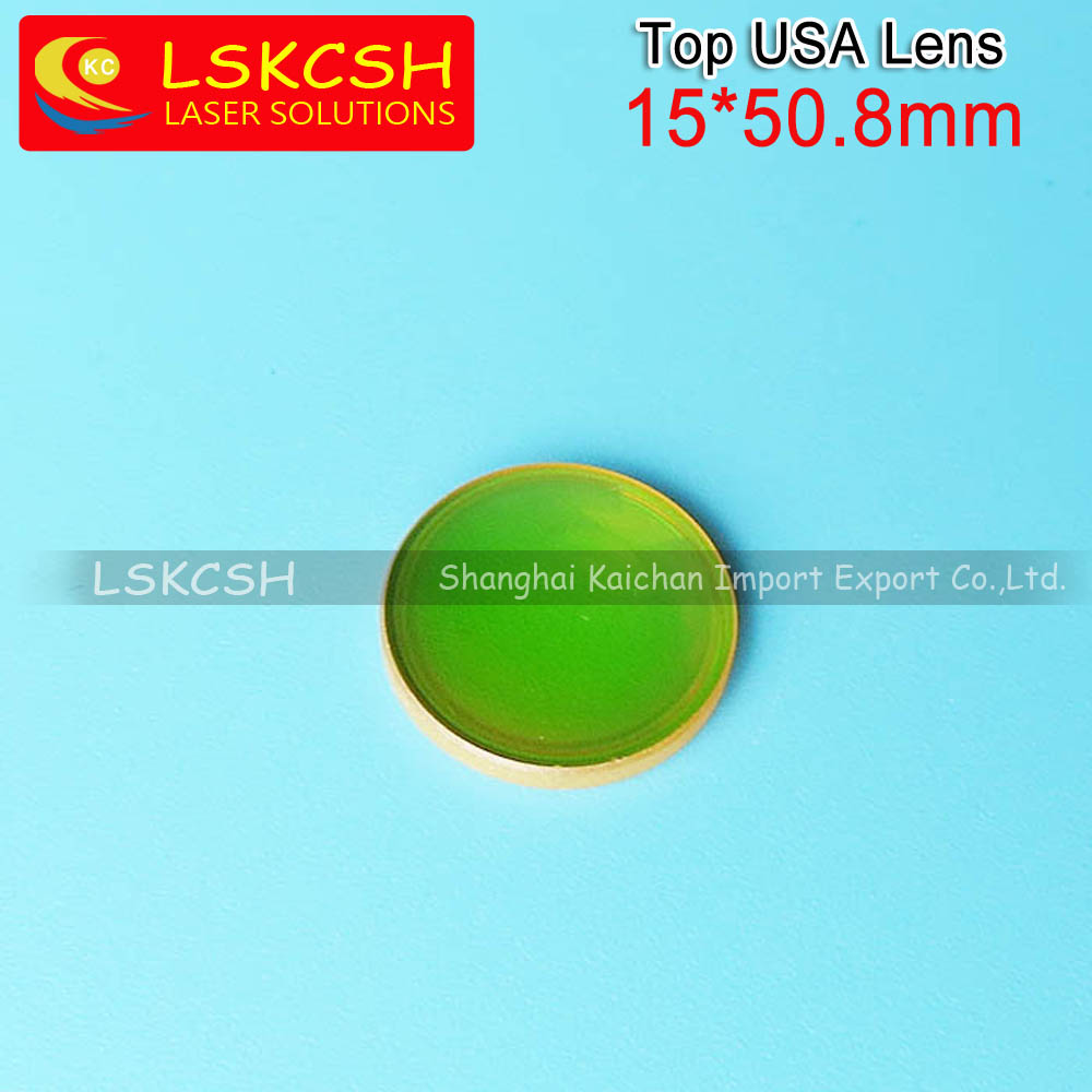 3pcs of 15mm Focal length 50.8mm Top USA laser focus lens for GCC/Trotec Speedy 100 laser cutting machines dia40mm focal length 150mm 2 pieces combined yag cutting machine laser focus lens