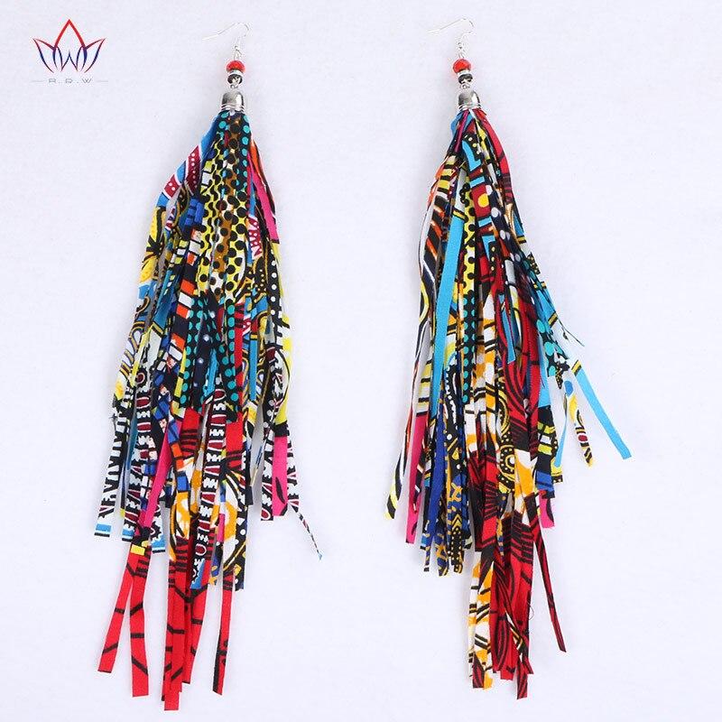 BRW 2017 Fabric Handmade Earrings with Tassel Boho Long Earrings ...