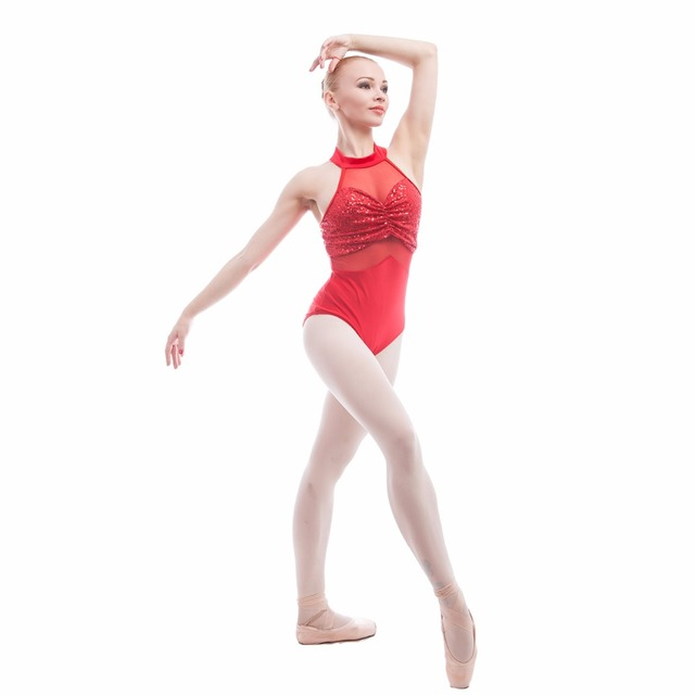 8dcec5a75 17098 Red Black Halter Zsa Zsa Sequin Spandex with Mesh Bodice Dance ...