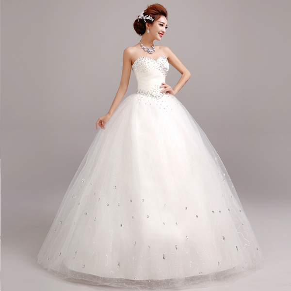 Z 2016 new stock plus size women pregnant bridal gown for Wedding dress in stock