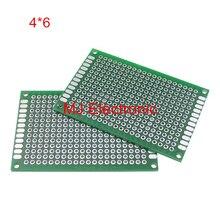 5 ШТ. Double side Прототип PCB Луженая Универсальный совет 4×6 4*6 см