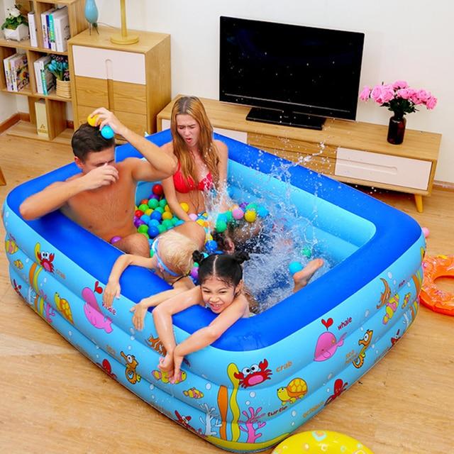 Piscina inflable bebé Piscina portátil al aire libre recipiente para niños bañera niños Piscina bebé Piscina cuadrada Shpe 6