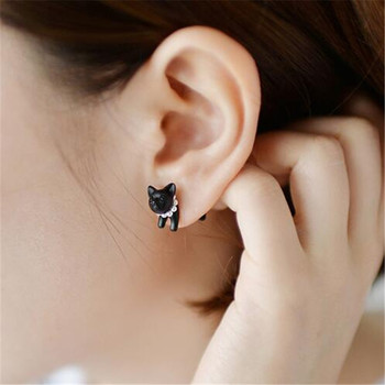 1 Piece !!   Three-dimensional Animal Leopard Cat Pearl Stud Earrings  4ED124 cat jewelry Cat Jewelry-Top 10 Cat Jewelry For 2018 HTB1zTj4gPoIL1JjSZFyq6zFBpXax