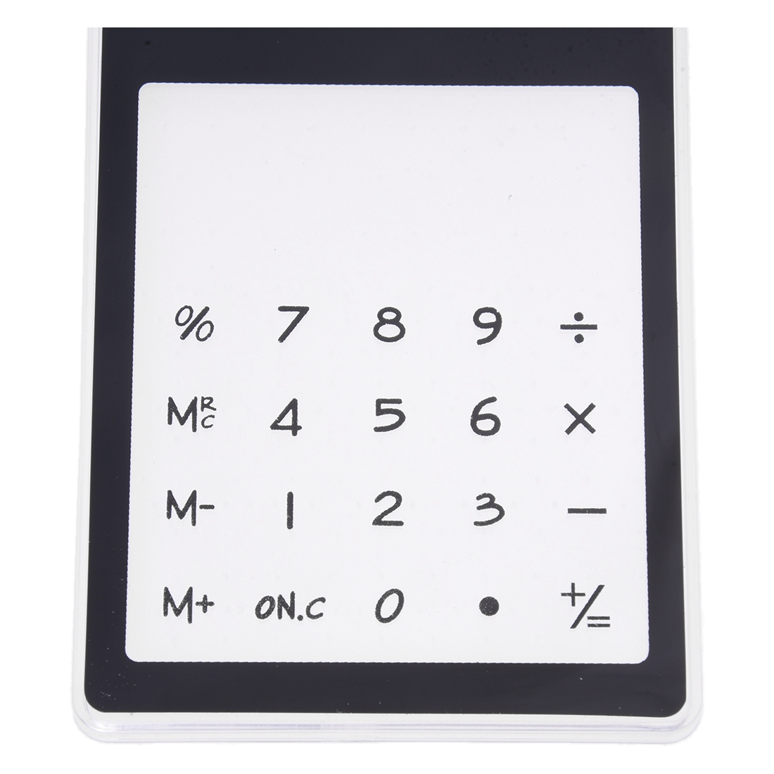 BLEL Hot Desk Solar Transparent Touch Calculator Black 8 Figures