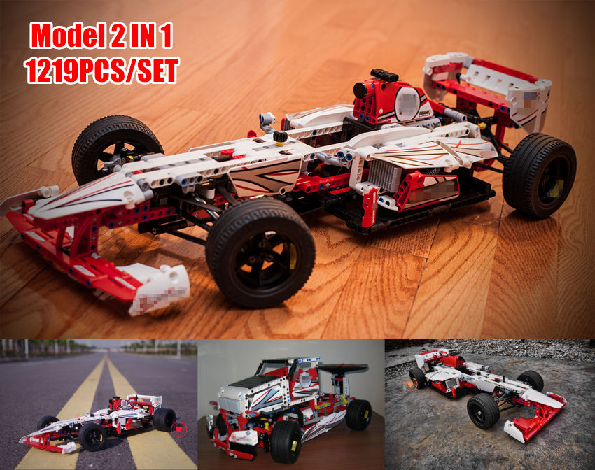 NEW Speed car Grand Prix Racer fit legoings technic car city model building blocks brick boys diy Toys children 42000 kid gift