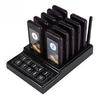 Беспроводной пейджер Системы 10 канал вызова клавиатуры очереди вызова Системы сигнальное устройство для ресторана 100-240 В США Plug