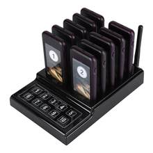 Wireless Pager System 10 Channel Calling Keypad Queuing Calling System Restaurant Pager 100-240V US Plug(China)