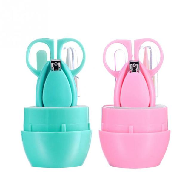 Lovely Mini Baby Care Cutter Clipper Practical Trimmer Blue Pink Convenient Daily Baby Nail Shell Cutting Manicure Set