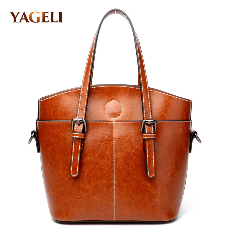 Genuine Leather Luxury Handbags Women Bags Designer Fashion Handbags Casual Messenger Bag Large Capacity Lady Shoulder bags fashion leather handbags luxury head layer cowhide leather handbags women shoulder messenger bags bucket bag lady new style