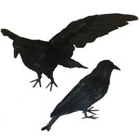 Halloween Black Feather Crow for Indoor and Outdoor Halloween Decoration
