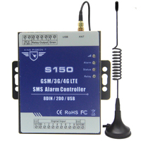 GSM Alarm 3G 4G Cellular RTU SMS Relay Switch Industrial IoT Remote Monitoring System in built watchdog 8DIN 2DO S150