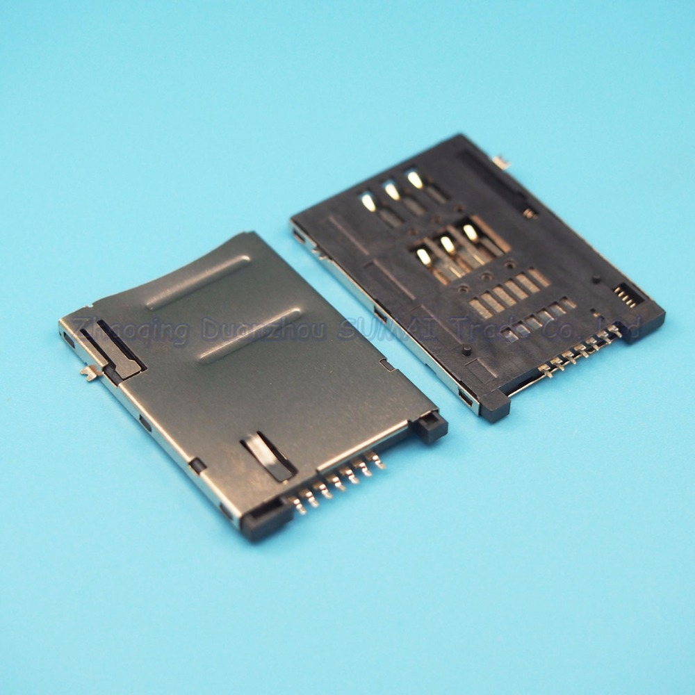 30pcs/lot 6 + 1 SIM Card Holder Self-push card slot 6P + 1P Tablet PC Mobile phone SIM card connector 7P