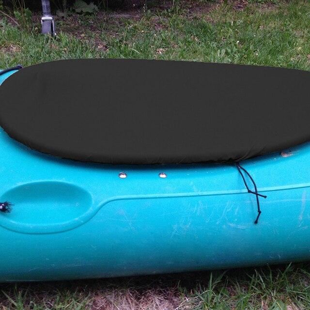 Accesorios de Kayak cubierta de la cabina para barcos Protector de la cabina del océano cubierta de la cabina negro/gris Canoe