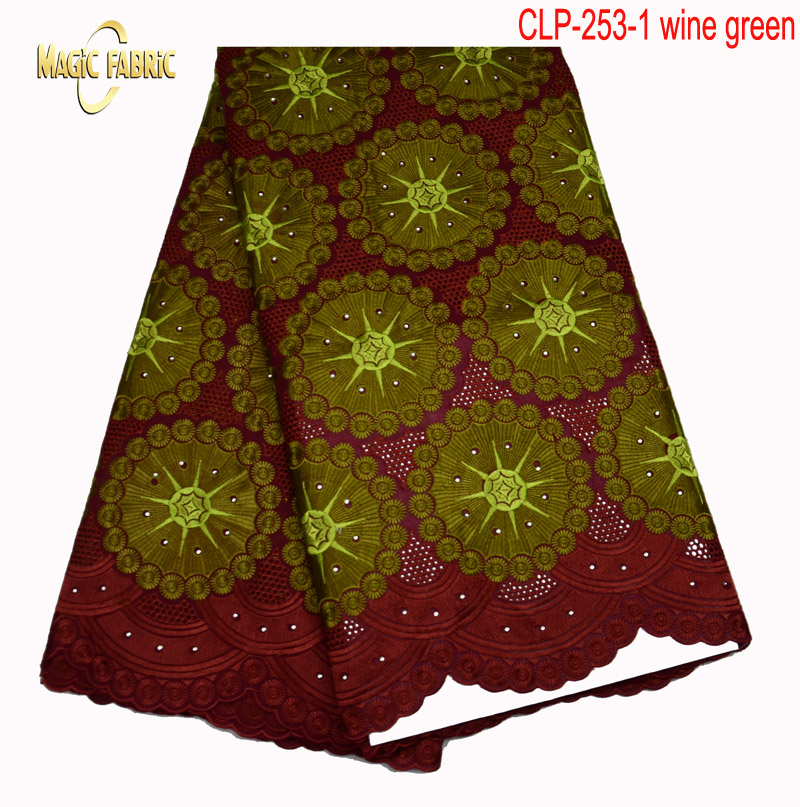 New Fashion 100% Cotton Swiss Voile Lace Material Good Selling Embroidery Lace Fabric Free Shipping    CLP -253