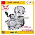 250cc zongshen CB250 motor refrigerado por agua 1 cilindros 4 tiempos dirt off-road ATV quad bike moto envío gratis