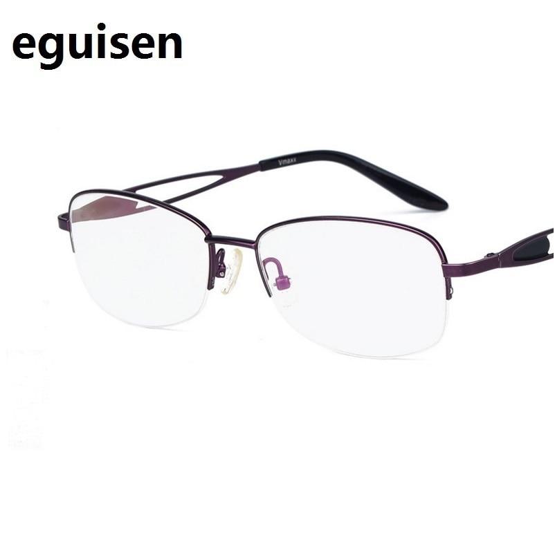 width-136 Titanium alloy ultra-light half-frame fashion Hollow mirror legs women eyeglasses frame female spectacle lentes