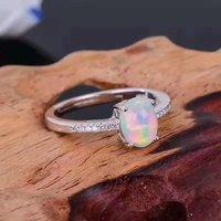 טבעי אש אופל טבעת כסף סטרלינג 925 מוצק אמיתי נשים טבעות חן סיטונאי תכשיטי יוקרה