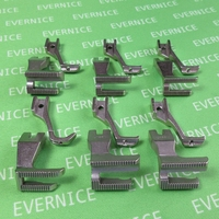6 sets Walking Foot Piping & Welting Feet for Yamata Feiyue FY 5318 Walking Foot Machine