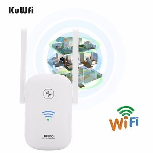 Image 1 - KuWFi 2.4Ghz 300Mbps WiFi Amplifier Repeater Access Point Client Roteador WiFi Range Extender Booster With Antenna 2*3dBi