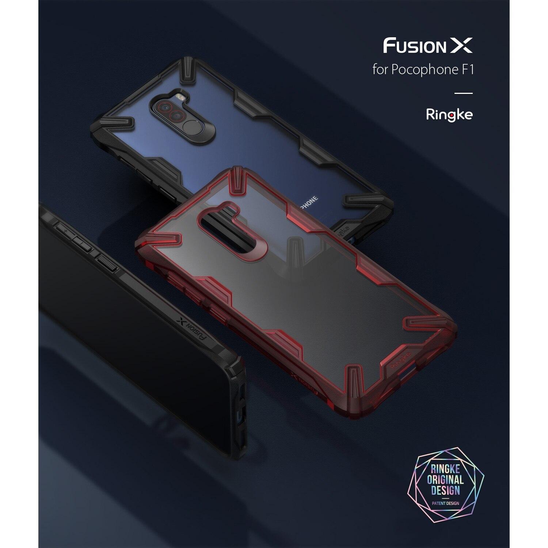 En stock funda Rearth Ringke Xiaomi Pocophone F1 caso Ringke Fusion X de moda duradera clara contraportada casos híbridos