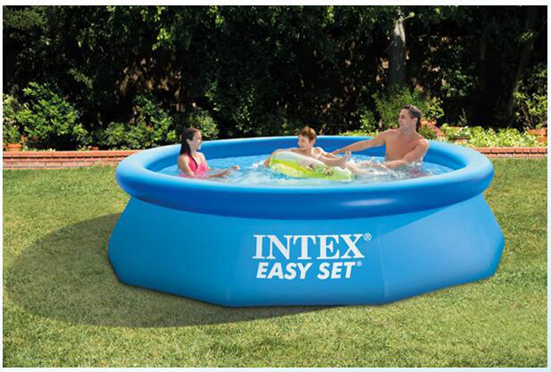 INTEX blue color above ground swimming pool family summer play kids children swim pool piscine aqua water sport easy set