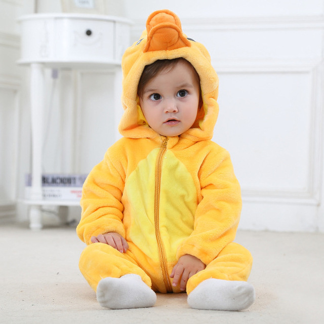 New Born Baby Hooded Toddler Cute Rompers 3