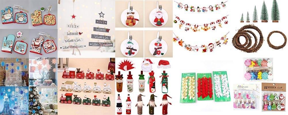 Christmas Snowflake Elk Tree Knitted Mug Cup Warmer Cover Holder Xmas Ornaments