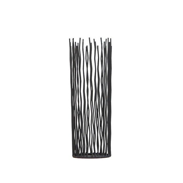 Bougeoir de bureau en métal Style bohémien | Bougeoirs noirs, bougeoir de mariage, photophore du maroc, 1 pièce
