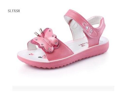 Kids Sandals Girls Summer 2018 New Princess Shoes Sandals For Girls Fashion Princess Fish Head Kids Shoes Size21-36