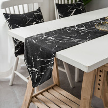 Nodic Creative Print Table Runner Flag Modern Solid Rectangle Tablecloth TV Cabinet Cover for Wedding Party Home Decor