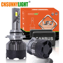 CNSUNNYLIGHT 70W/Pair LED H7 H11 H8 Car Headlight 9005 9006 H4 Hi/Lo Bi-LED Bulbs H1 500% Brighter Auto Front Fog Lights 6000K(China)