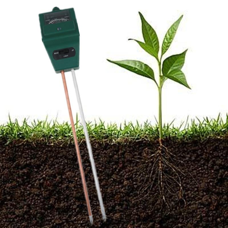 Werkzeuge Boden Hygrometer 3 In 1 Ph Tester Boden Wasser Feuchtigkeit Licht Test Meter Für Garten Pflanze Blume Analysatoren