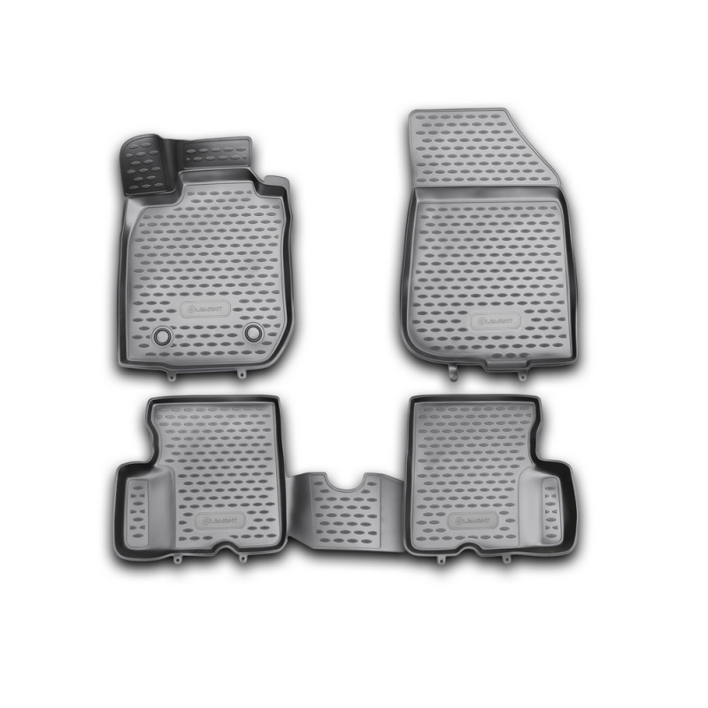Car Mats 3D salon For RENAULT Duster 2WD, 2011-2015, 4 PCs (polyurethane)