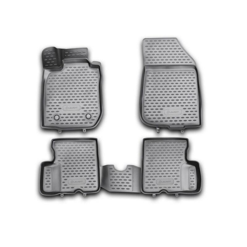 Tapetes de carro 3D 2WD do salão de beleza Para RENAULT Duster, 2011-2015, 4 PCs (poliuretano)