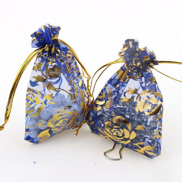 Rose Blue Bronzing Organza Jewelry Packaging Gift Bags Cheap Wedding Gift Bags Coffee Beans Sacks 7x9cm 100pcs/lot Wholesale  sc 1 st  AliExpress & Rose Blue Bronzing Organza Jewelry Packaging Gift Bags Cheap Wedding ...