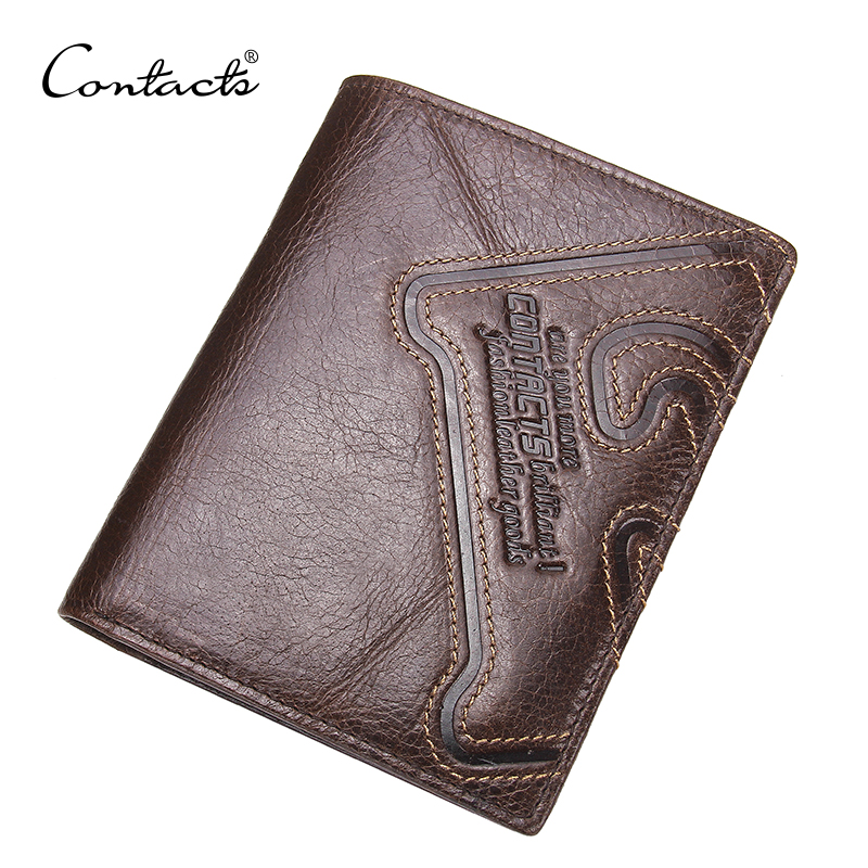 CONTACT'S Genuine Leather Men Wallet Thin Design Short Wallet Casual Purse With Card Holder Coin Purses And Photo Holder Wallets contact s genuine leather men wallet thin design short wallet casual purse with card holder coin purses and photo holder wallets