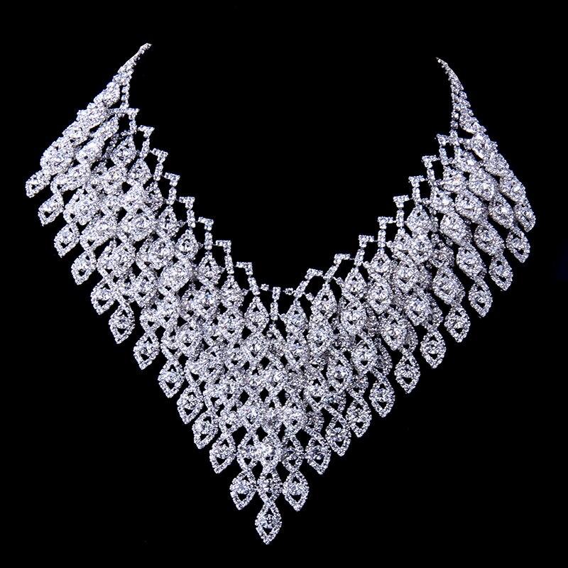 2018 nouveauté femmes bijoux ensemble en alliage de Zinc avec cristal autrichien collier/boucles d'oreilles ensemble bijoux de mode robe accessoires N134