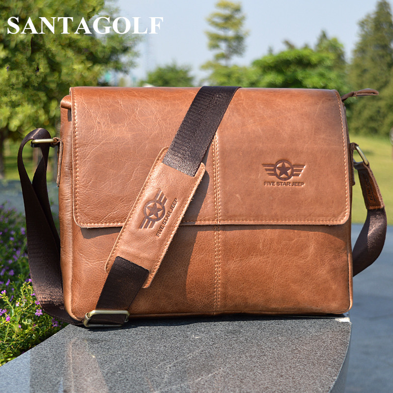 Фото High-end Famous Brand REAL genuine leather men messenger bags Vintage Fashion Casual shoulder cross body bag Business briefcase