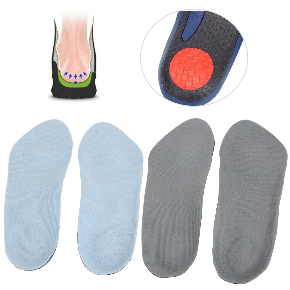 1Pair 3/4 Arch Support Soft Shoes Insole Cushion Flat Foot Corrector Non-slip Shoes Pads Sweat Absorbing Shock Absorption Insole