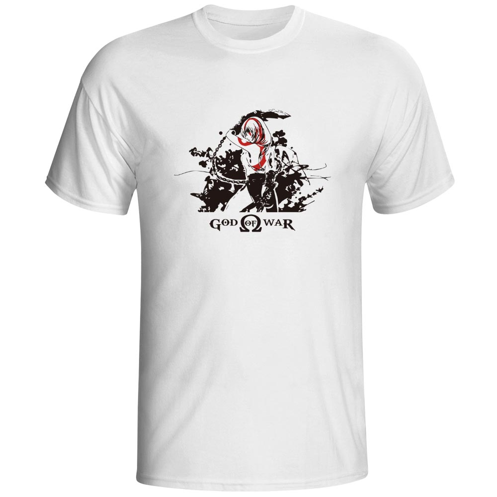 Lady Kratos God Of War T-shirt Greece Myth Parody Video Game Pop Rock Punk T Shirt Skate Creative Fashion Women Men Top