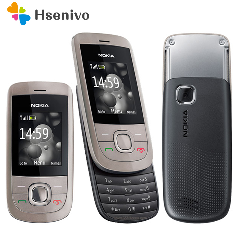 100 original nokia 2220 slide Mobile Phones Unlocked nokia 2220s cell phones mp3 player free shipping