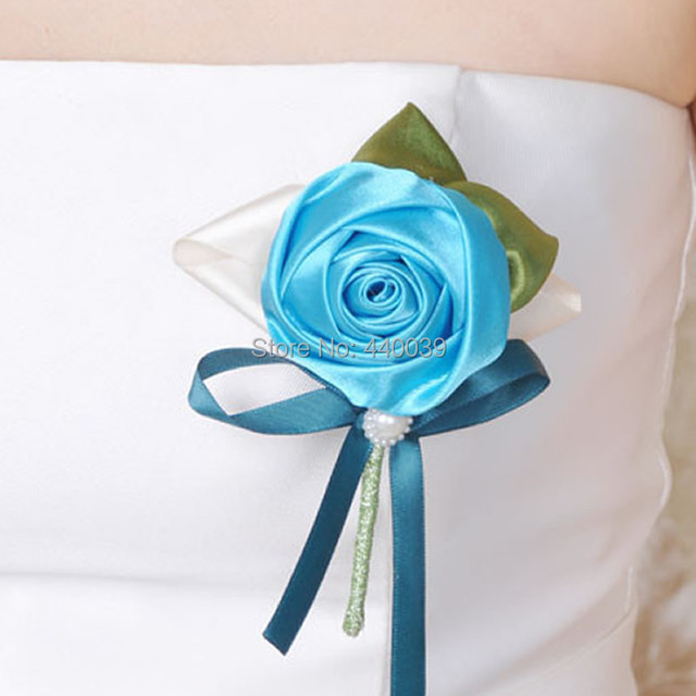 20 Colors Artificial Silk White Rose Flower Bridesmaid Groom Wedding Corsage Corsages Prom FW149