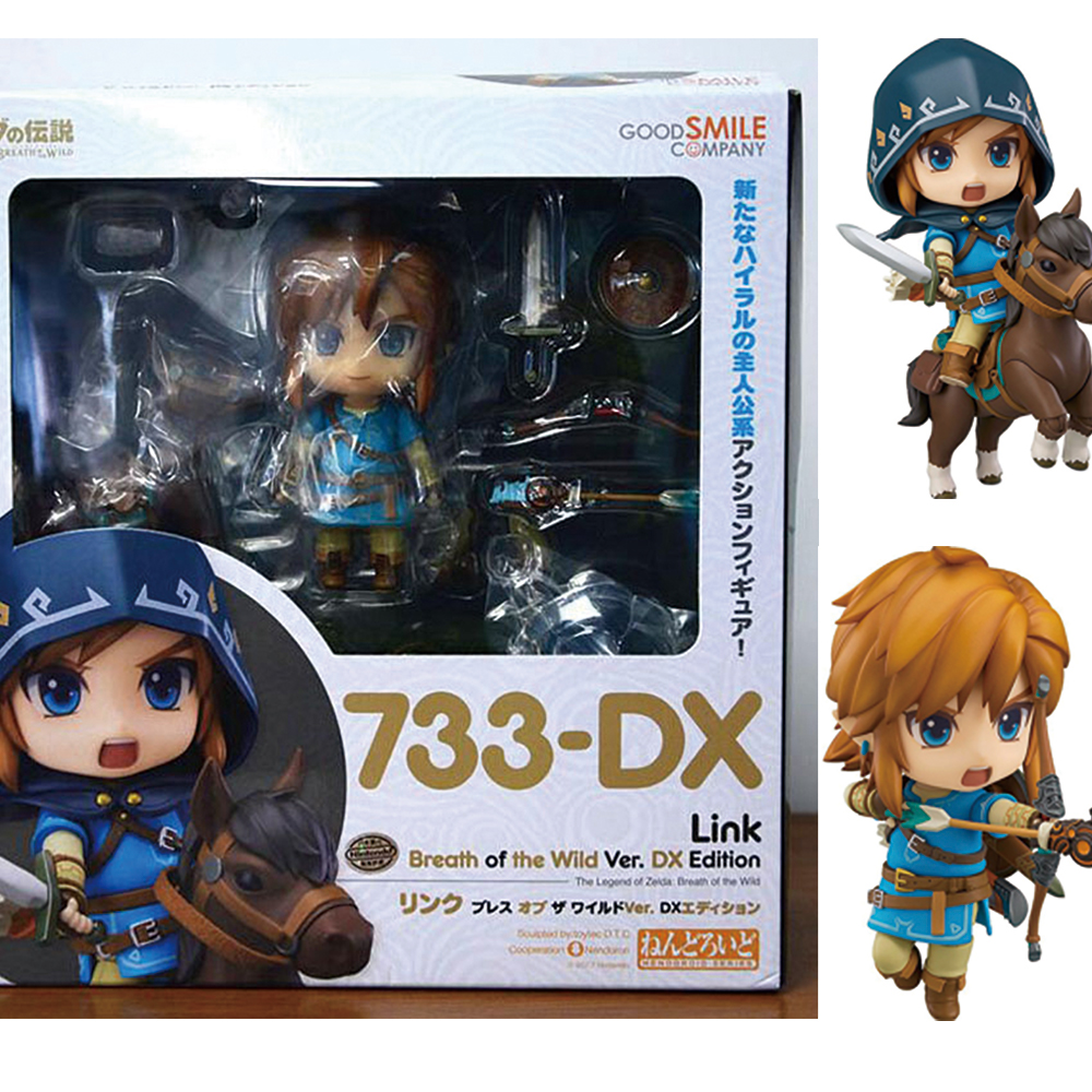 Nendoroid 733-DX The Legend of Zelda Link Breath Of The Wild PVC Figure Toy
