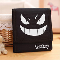 New Fashion Kawaii Pikachu Wallet Pocket Monster Gengar Pikachu Print Short Coin Wallets Purse Card Holder Students Gift