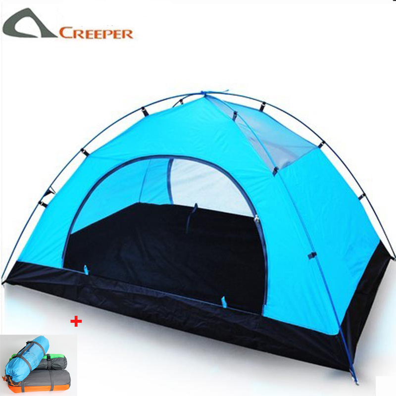 ultralight camping tent carpas barrac 1-2 person Lover Tents outdoor waterproof Double layer trekking hiking tourist tents tenda waterproof tourist tents 2 person outdoor camping equipment double layer dome aluminum pole camping tent with snow skirt