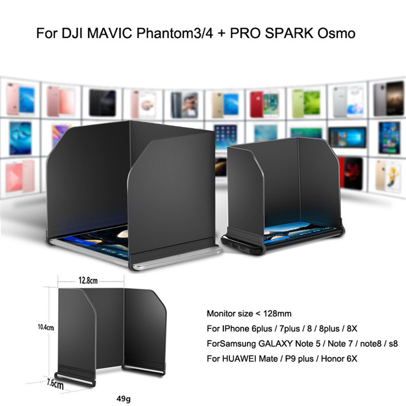 L128 Black PAD Monitor Hood Sunshade Sun FPV For DJI MAVIC Phantom3/4 PRO SPARK Osmo drop shipping 1023