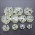 Wholesale 22pcs 11 Gauges 10-30mm Big Size 3 Skulls Inside Glow In The Dark Acrylic Ear Piercing Ear Plugs Ear Tunnel